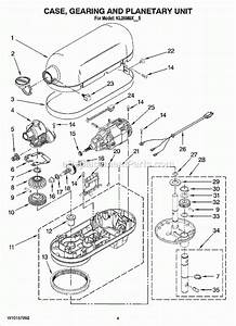 Kitchenaid Stand Mixer Parts Diagram