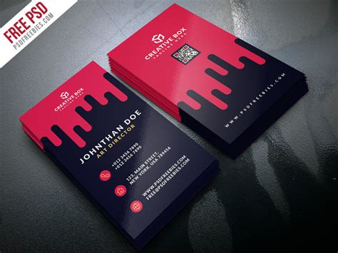 Creative Digital Agency Business Card Template Psd Visiting Card Png Images Free Download Business On Word Mac How To Print Indesign Job Title Owner What Is In French Layout Adobe Illustrator Logo Using
