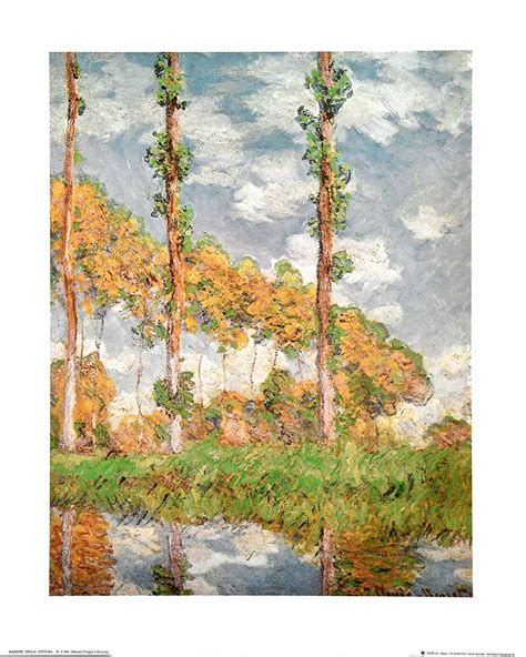 Claude Monet - Poplars At Giverny — Poster Plus