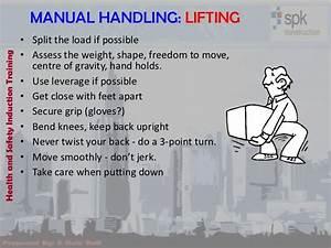 Manual Handling  Lifting  U2022 Split The Load If Possible