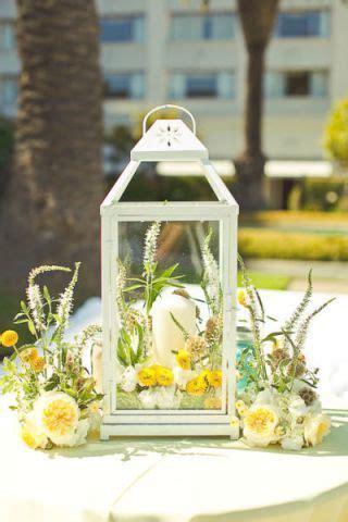Lemon Yellow Wedding Inspiration Lantern centerpieces