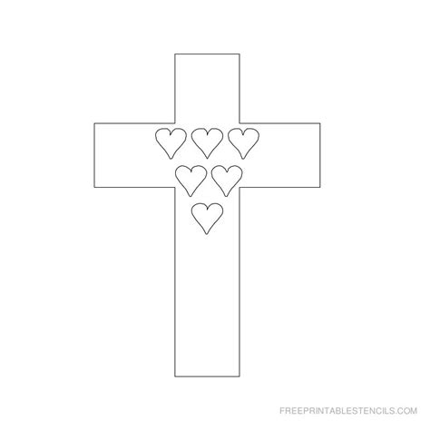 Cross Template Printable Cross Stencils And Hearts Free Printable Stencils
