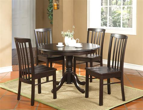 Kitchen Table 4 Chairs by 5pc Kitchen Dinette Set Table And 4 Chairs Walnut Ebay