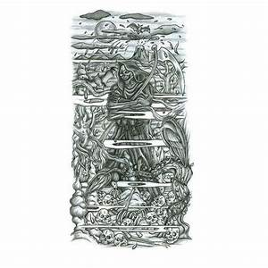 grimreaper half sleeve tattoo design tattoowoocom With designing a sleeve tattoo template