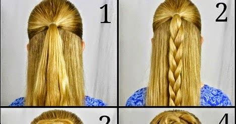 swept  rose braid bun hairstyle step  step
