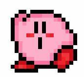 Kirby Pixel Flying