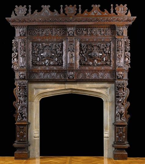 jacobean style carved oak antique fireplace and 39 best renaissance fireplaces images on
