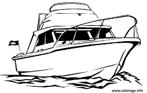 Dessin Bateau Mer by Coloriage Une Vedette A La Mer Jecolorie