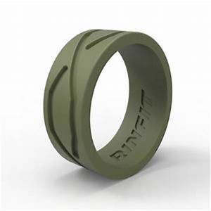 Men silicone wedding ring band hypoallergenic medical for Medical grade silicone wedding rings