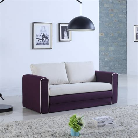 Loveseat Convertible by Modern 2 Tone Modular Convertible Sofa Bed Purple Beige