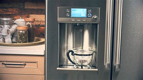 ge cafe series french door refrigerator  hot water keurig  cup brewing system youtube