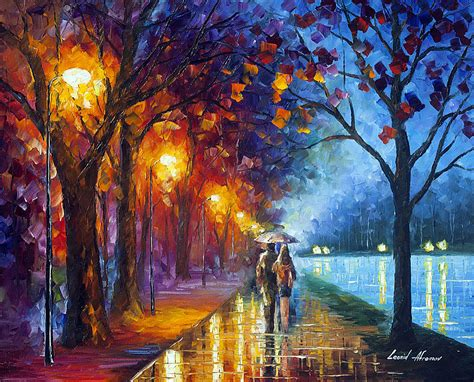 Hell Dunkel Kontrast Malerei by Alley By The Lake 3 Palette Knife Painting On Canvas