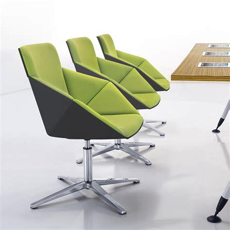 hex swivel and tilt lounge chair on castors workspace