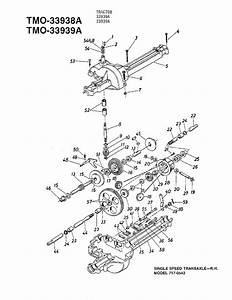 Single Speed Transaxle Diagram  U0026 Parts List For Model