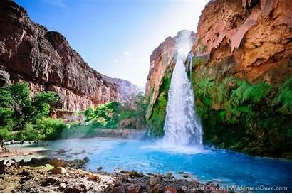 Havasupai Hiking Trail Camping Falls Arizona Canyon