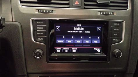 golf 7 composition media nouvelle golf 7 coccicar pr 233 sentation radio