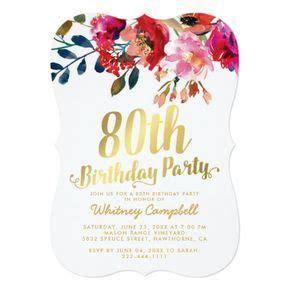 elegant floral white gold  birthday party invitation