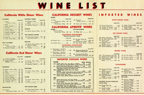 italian cuisine menu list r 174 restaurant menu exhibit to live and dine in la tells los angeles s real history