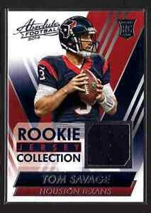 2014 Absolute Rookie Jersey Collection Tom Savage Houston ...