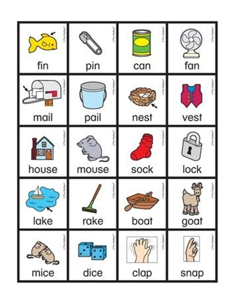 free rhyming picture cards with words from the mailbox 146 | 820b449244de419c59b6bd46fde8b6de rhyming activities preschool literacy