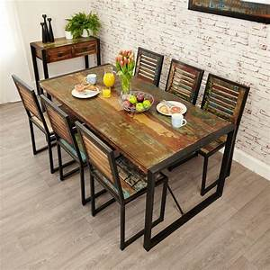 Industrial, Chic, Large, Dining, Table
