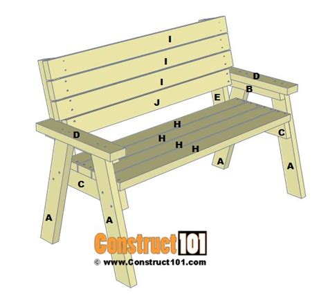 25 best ideas about 2x4 bench on diy wood