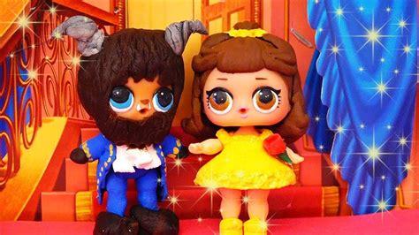 bonecas lol surpresa se transformam em  bela   fera
