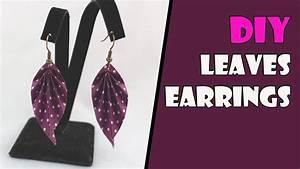 Diy  Origami Earrings Leaves  Origami Jewelry