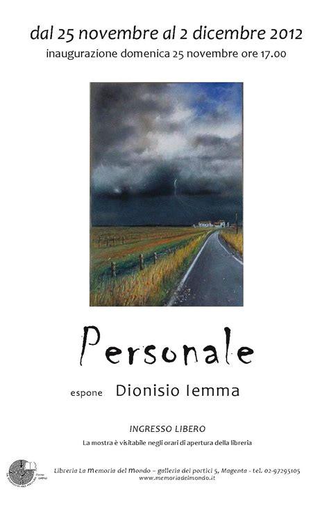 libreria personale personale espone dionisio iemma
