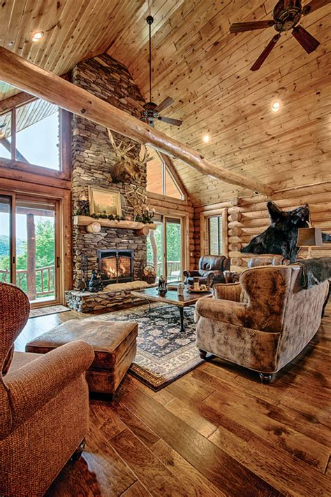 wood home interiors a mountain log home in hshire