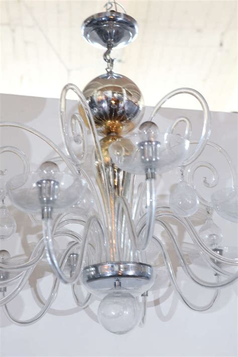venini blown glass chandelier for sale at 1stdibs