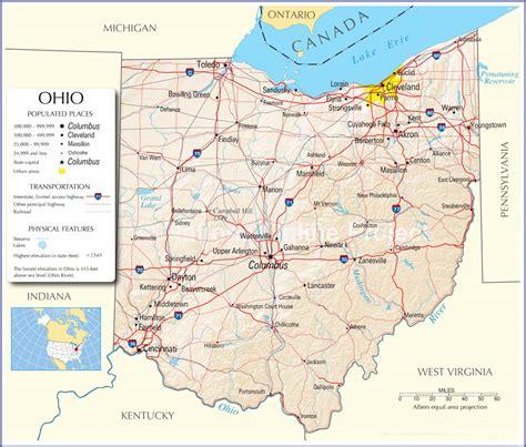 ohio state map ohio map ohio state road map map  ohio