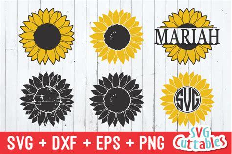 sunflower collection monogram frame svg cut file  svg cuttables thehungryjpegcom
