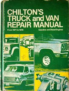 Details About Chilton U0026 39 S Truck And Van Repair Manual 1971