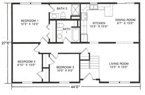 floor plans  raised ranch style homes google search kitchen   raised ranch