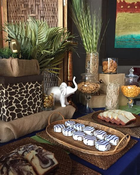safari themed baby shower dessert table www