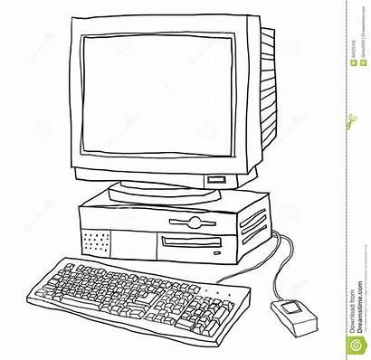 Computer Line Desktop Illustration Typewriter Alphabet Backspace