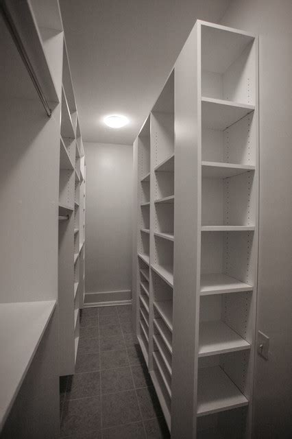narrow room walking closet contemporary wardrobe