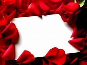 Red Roses Border Frame PPT Backgrounds | Border and Frames ...