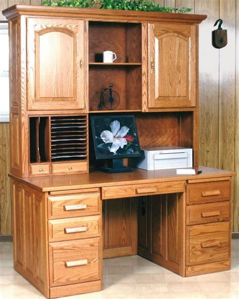 oak desk with hutch computer flat top desk with hutch oak