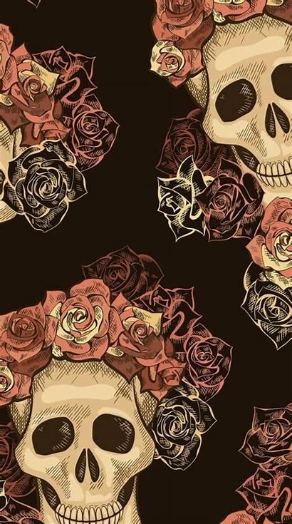 Skull Iphone Wallpapers Sugar Skulls Caveira Rose