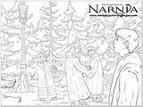 Narnia Coloring Pages Chronicles Printable Colouring Forest Dibujo Getdrawings Template sketch template