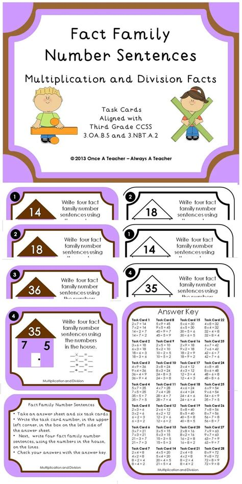 22 best fact families images on fact families