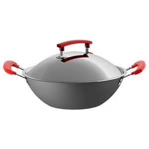 identisk wok mit deckel dunkelgrau aluminium ikea