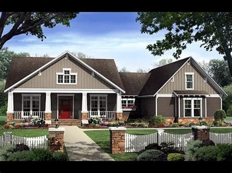Craftsman House Plan 59198 at FamilyHomePlans com YouTube