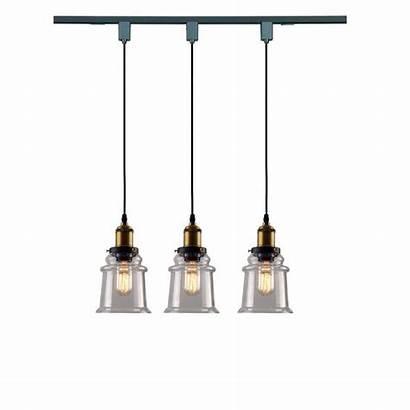 Track Lighting Pendant Glass Decorative Fixture Industrial