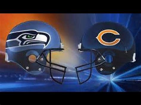 chicago bears  seattle seahawks qwest field youtube