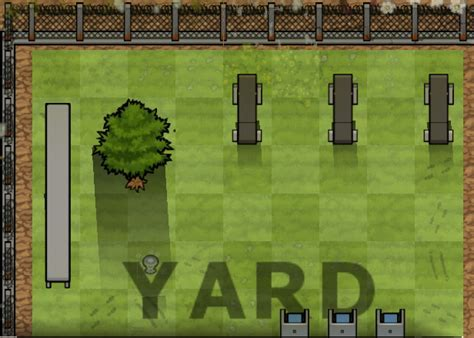 Yard   Prison Architect Wiki   FANDOM powered by Wikia
