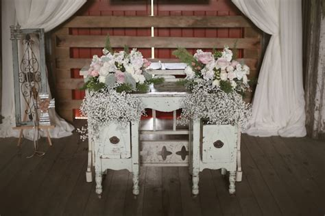 shabby chic barn wedding shabby chic wedding at lilac farms southern events party rental company franklin nashville