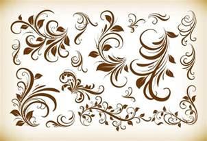 designer vintage vintage floral design elements vector illustration collection free vector graphics all free